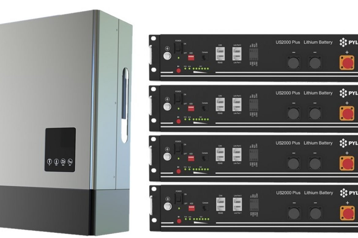 LUXPOWER iverter with  Pylontech 9.6Kw Battery Storage