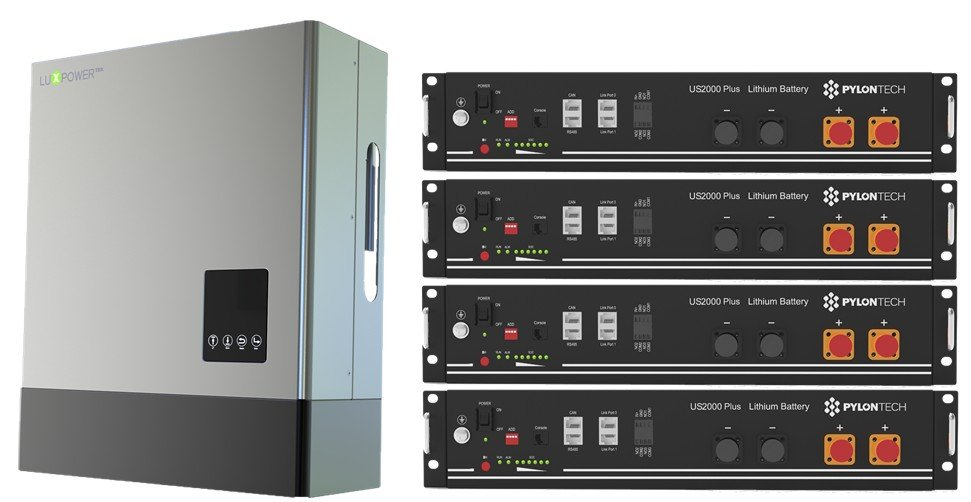 luxpower inverter and pylontech storage battery