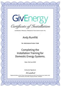 givenergy certified installer andy rumfitt