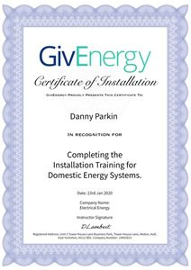 givenergy certified installer danny parkin